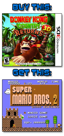 Donkey Kong Country Returns 3D, Super Mario Bros: The Lost Levels