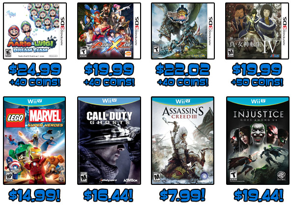 Wii U and 3DS deals