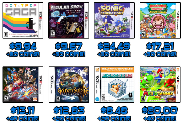 Handheld deals + Club Nintendo coins!